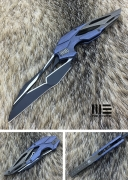 Нож складной WE Knife Eschaton blue  brown